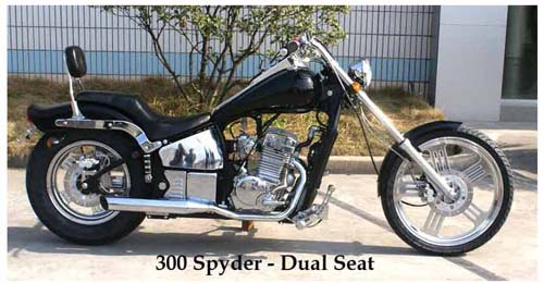 300 Spyder Softail Motorcycle with 2 up Seat & Sissy Bar