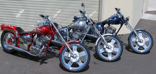 300 Spyder Softail Motorcycle 3 Models