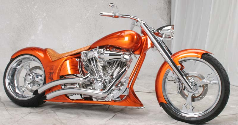 Chopper City USA Customized 240mm Fatboy Motorcycle by Dave Welch
