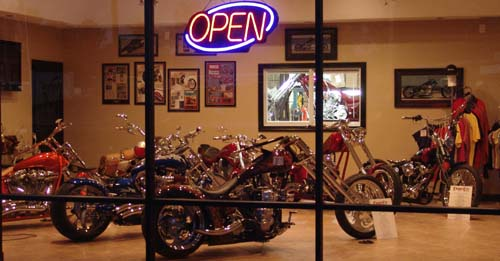 Chopper City USA Showroom at Night